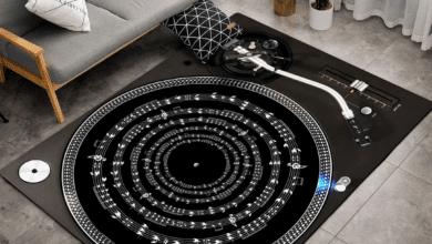 tapis de sol disque vinyle